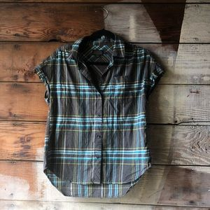 Pendleton Size Small Plaid Button Up Short Sleeve